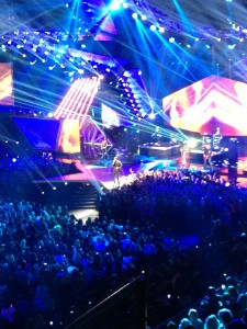 Luke Bryan performing at the ACA's to open the show!