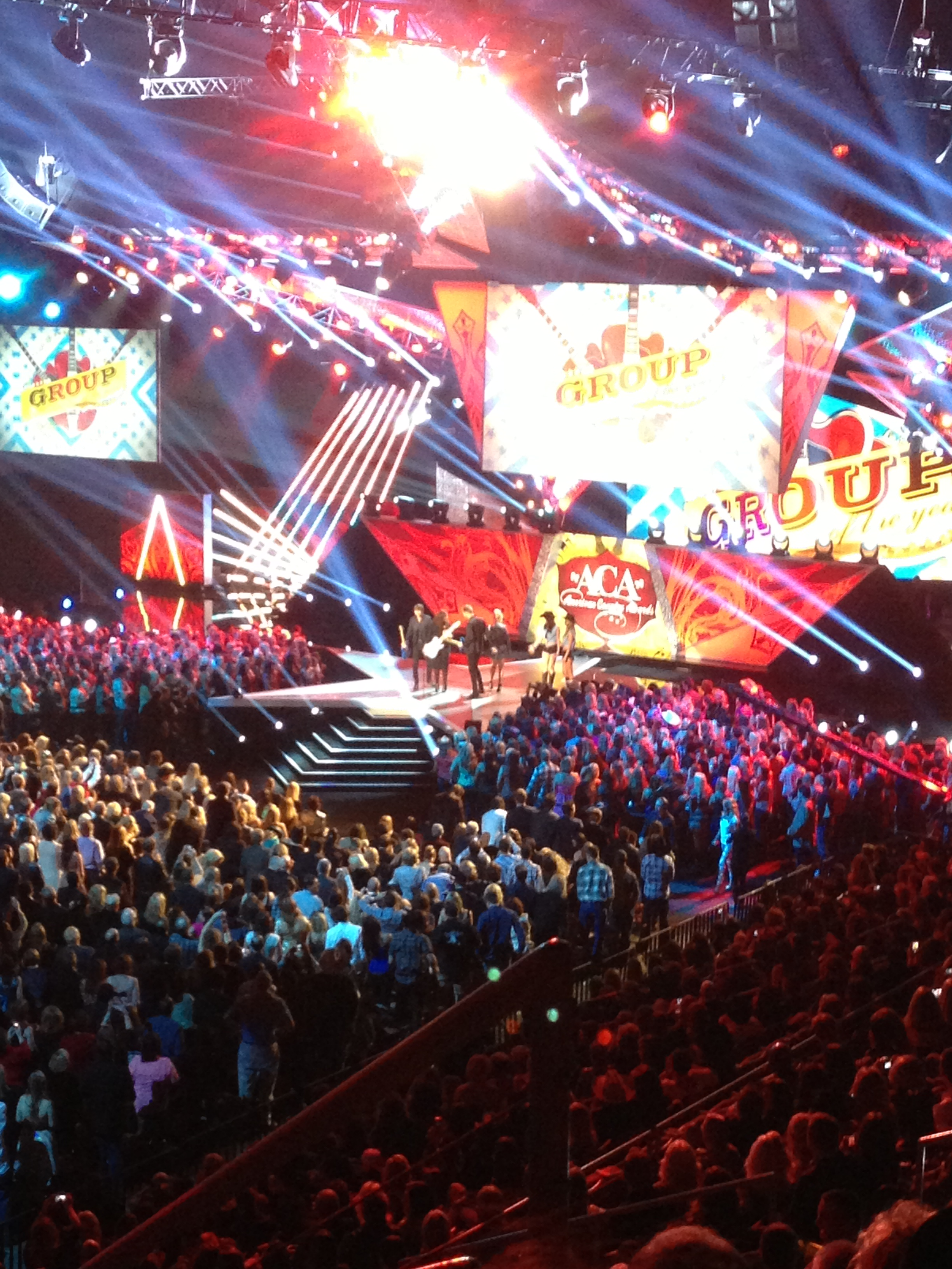 A look from our seats at the American Country Awards stage as Lady A received the award for Group of the Year.