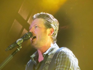 "Seeing Blake Shelton in concert from the front row sing ""God Gave Me You"" was amazing."