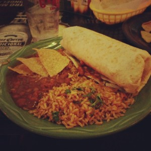 Here is my food at La Salsa Cantina