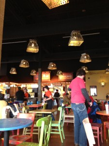 A look inside the Cafe Rio dining area.