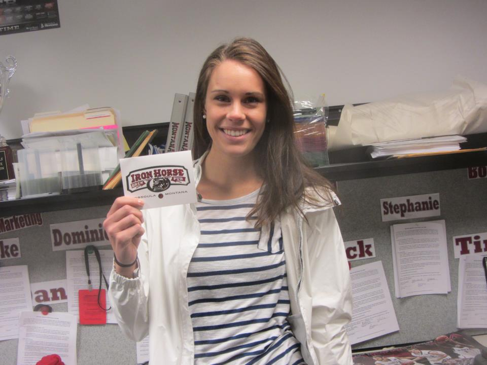 Last year, Steph won the competition. She chose a gift card to Iron Horse as her prize.