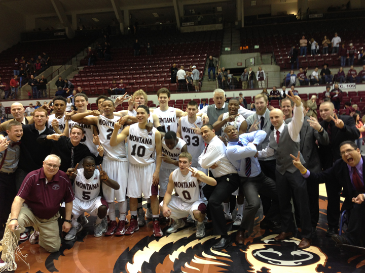 Last night  our mens team won the Big Sky Conference regular season title.