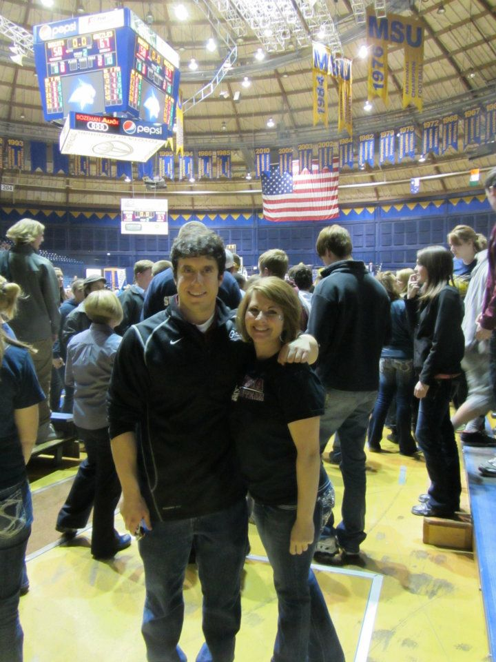 Christie and I in Bozeman last year after both Montana basketball teams swept Montana State.