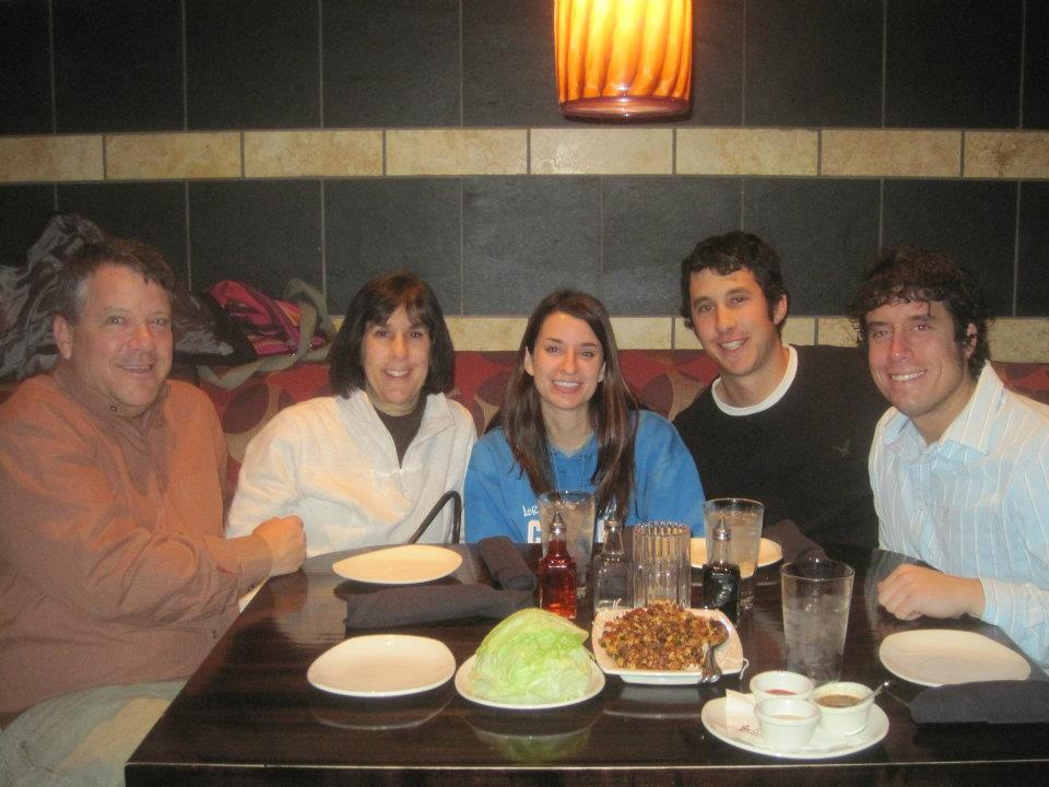 My family loving life at P.F. Chang's in November of 2011.
