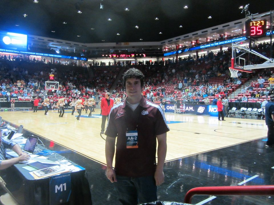 Myself at The Pit in Albuquerque, New Mexico, for the NCAA Tournament.