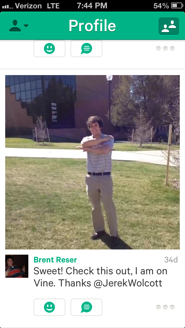This was my first ever Vine video.