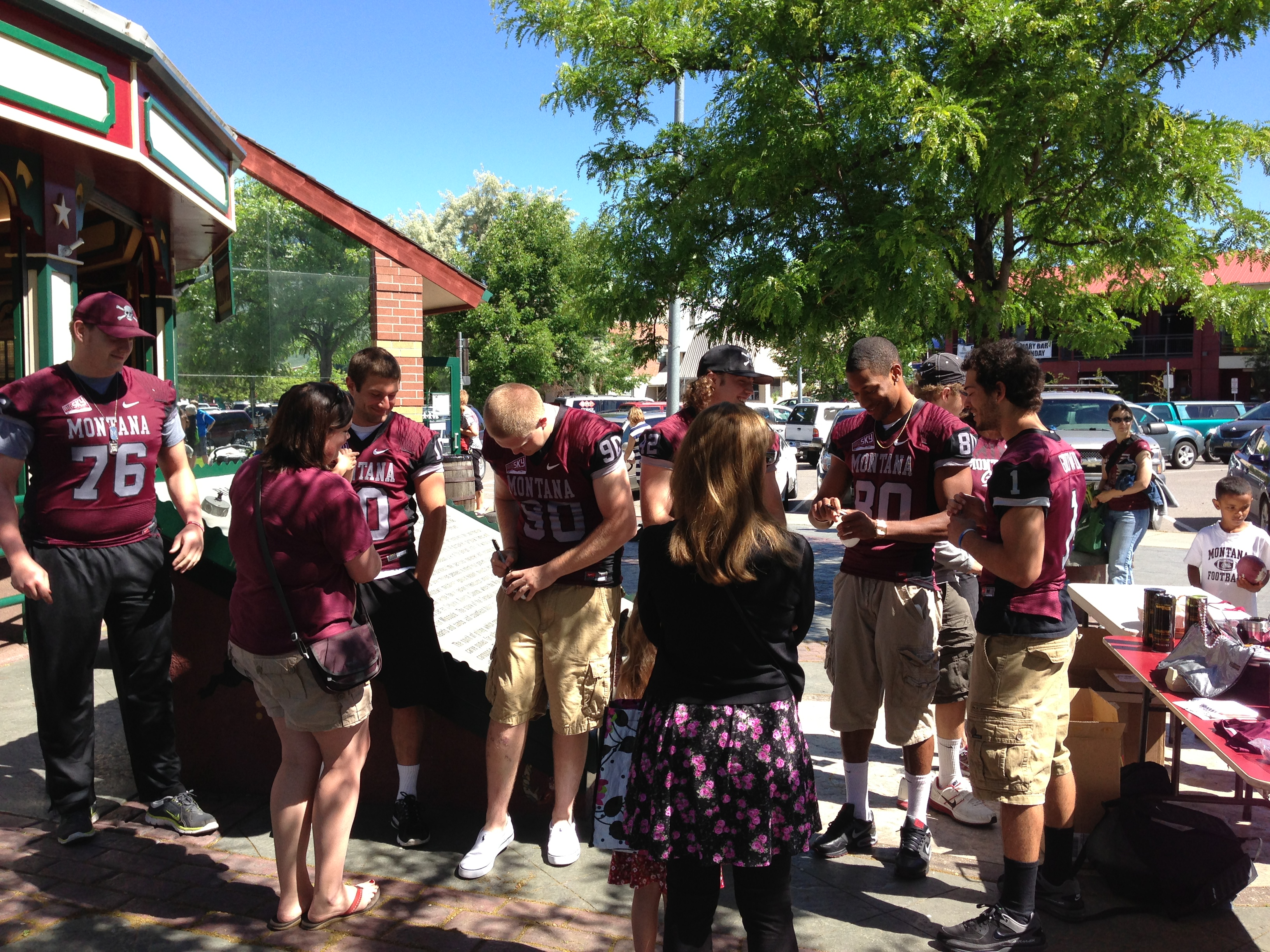 "Our Griz football athletes helped out the community once again this past Saturday at ""Griz Day at the Carousel""."