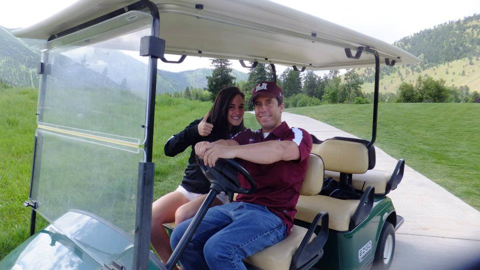 Just like last year I will be driving  the golf cart again.