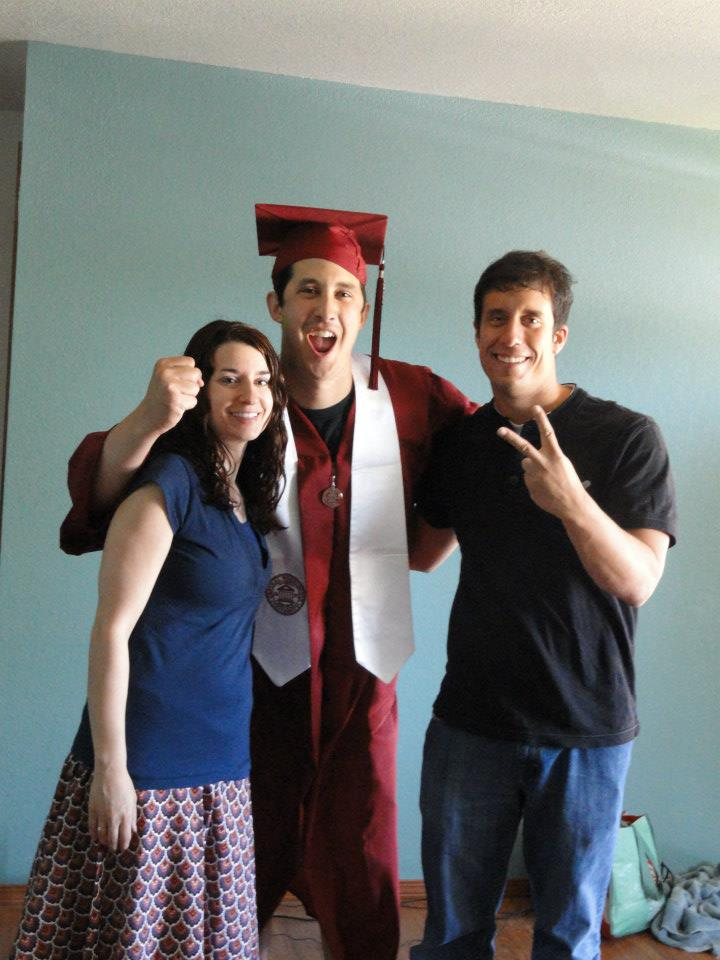 Congrats to my brother for graduating! Don't Blink.