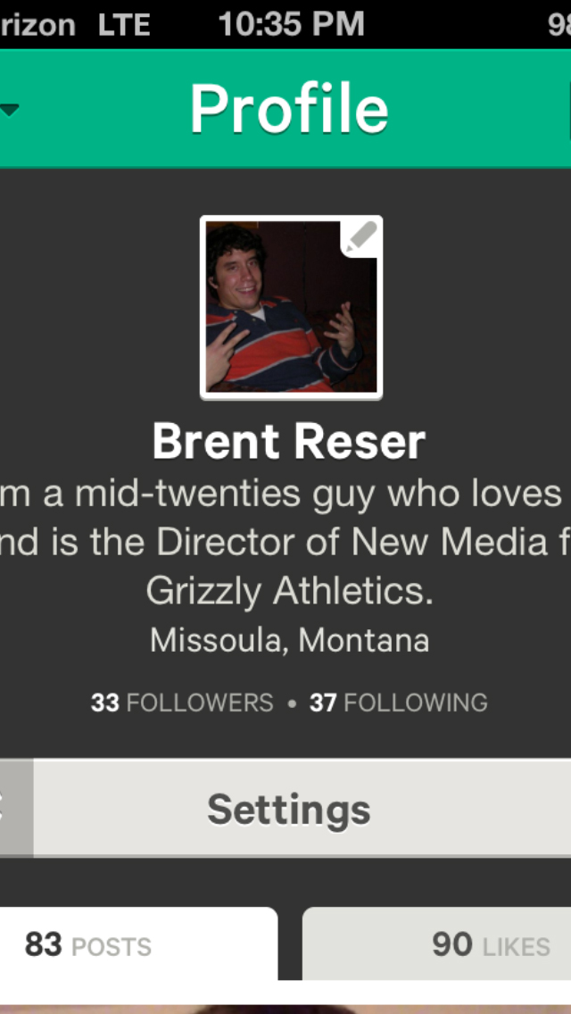 Make sure to follow me on Vine (@BrentReser)