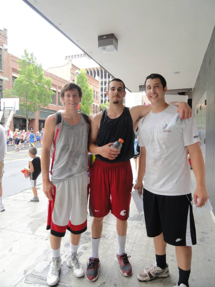 Glen with his two Ellensburg teammates. Corey is on the far left and Kyle is in the middle.