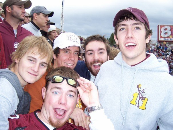This is me at a Griz football game with residents from my first ever floor during the 2006-07 school year.