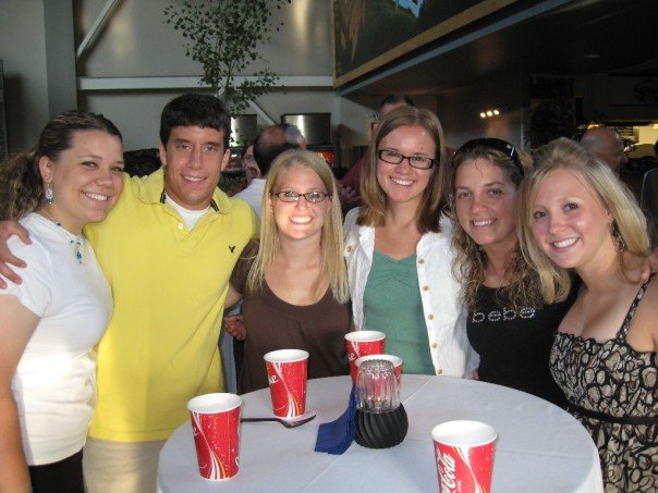 Here I am pictured with some fellow resident assistants who I got to know pretty well.
