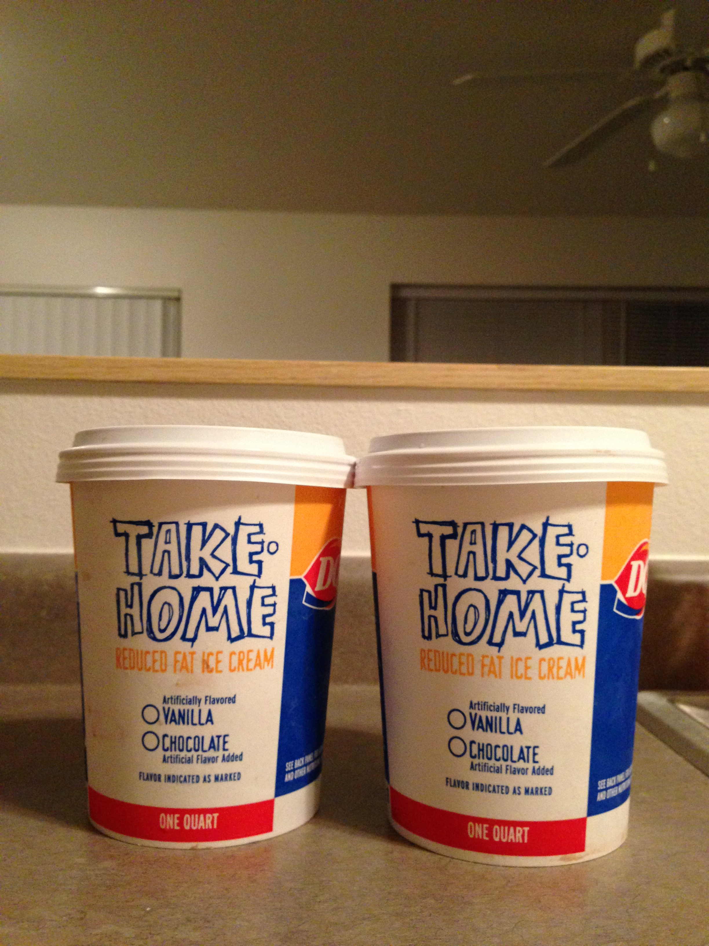 I am the owner of enough ice cream to last me the month,