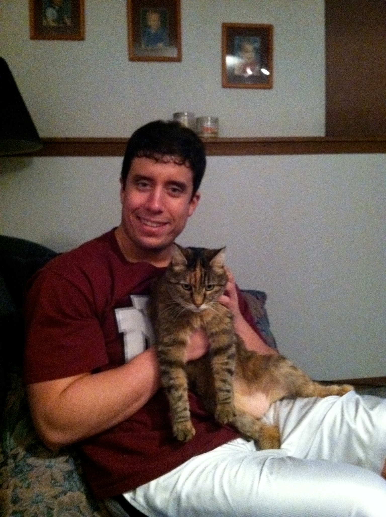 Nabisco and I...the best cat I have ever known.