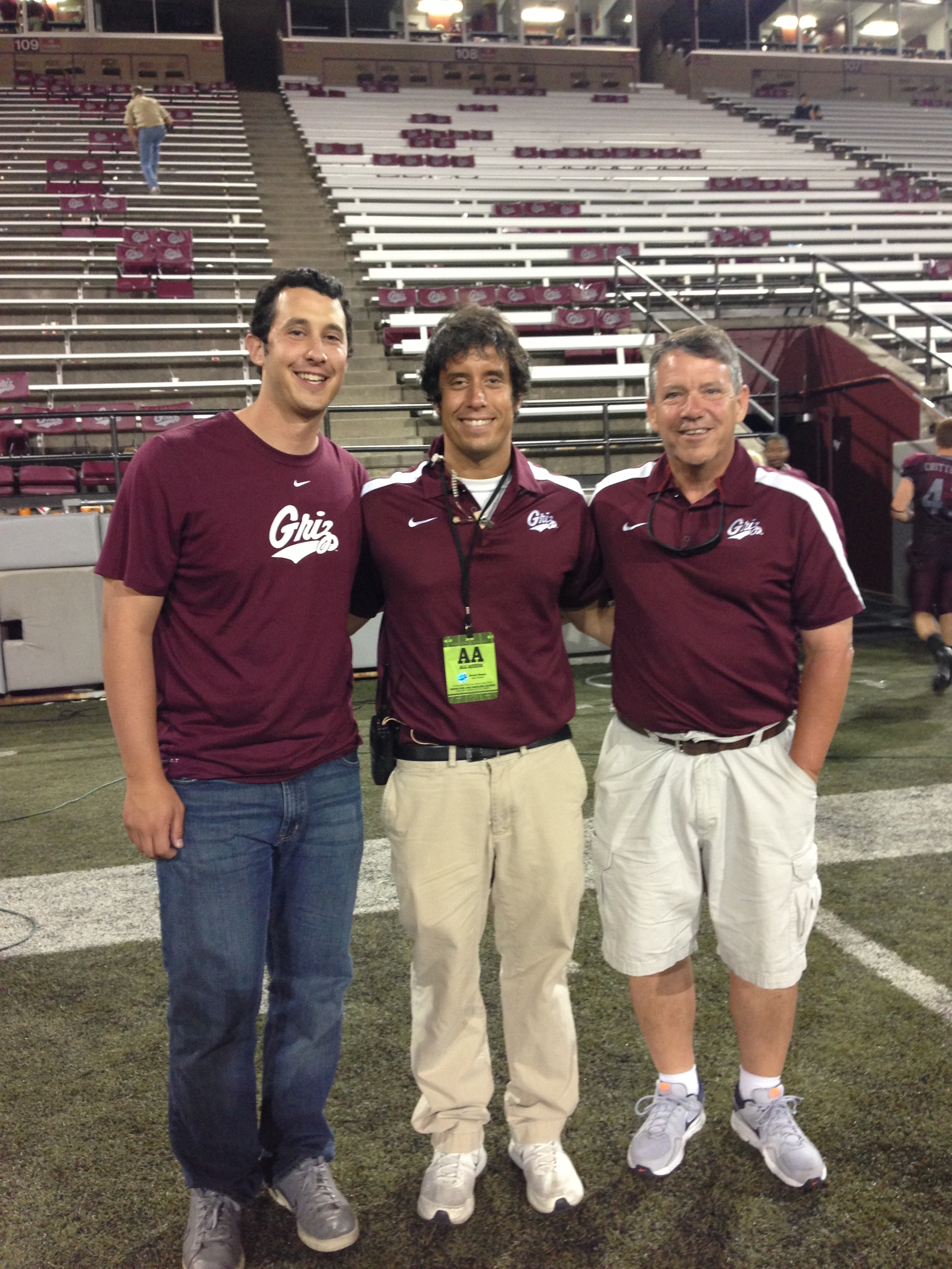 I was so happy that my brother and dad got to see this game and also catch my Griz Vision cameo.