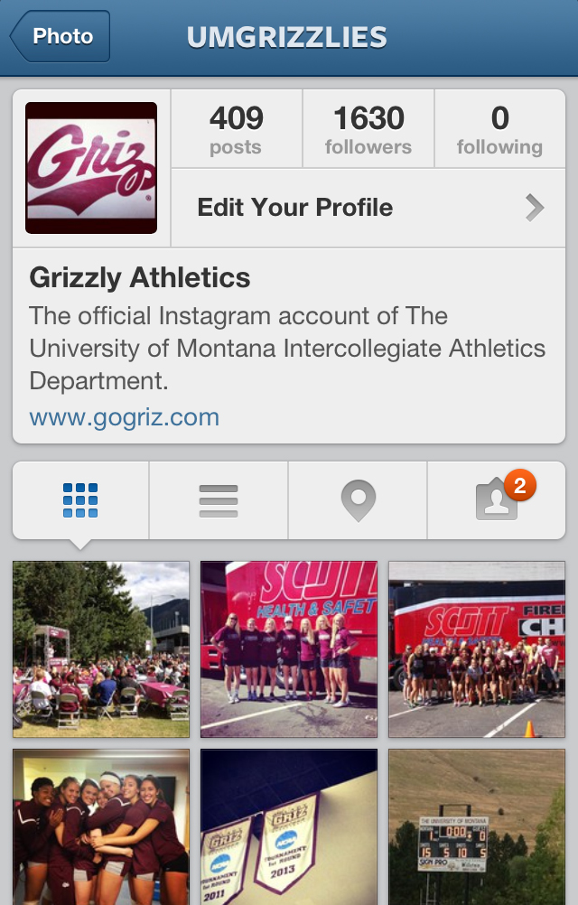 Make sure to follow @UMGRIZZLIES on Instagram.