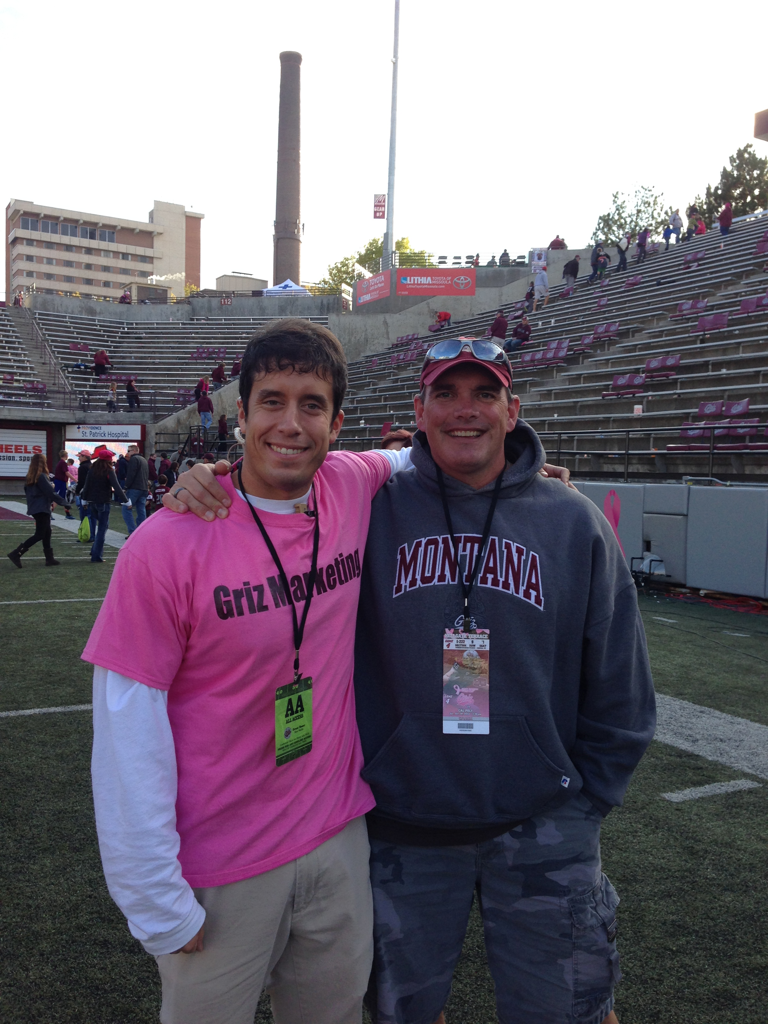 I got to visit with my high school football coach, Sean Carty, after the game.