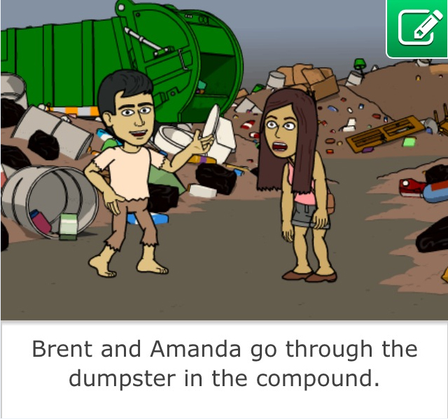This is a Bitstrip of my friend Amanda and I. This is one where I edited the caption.
