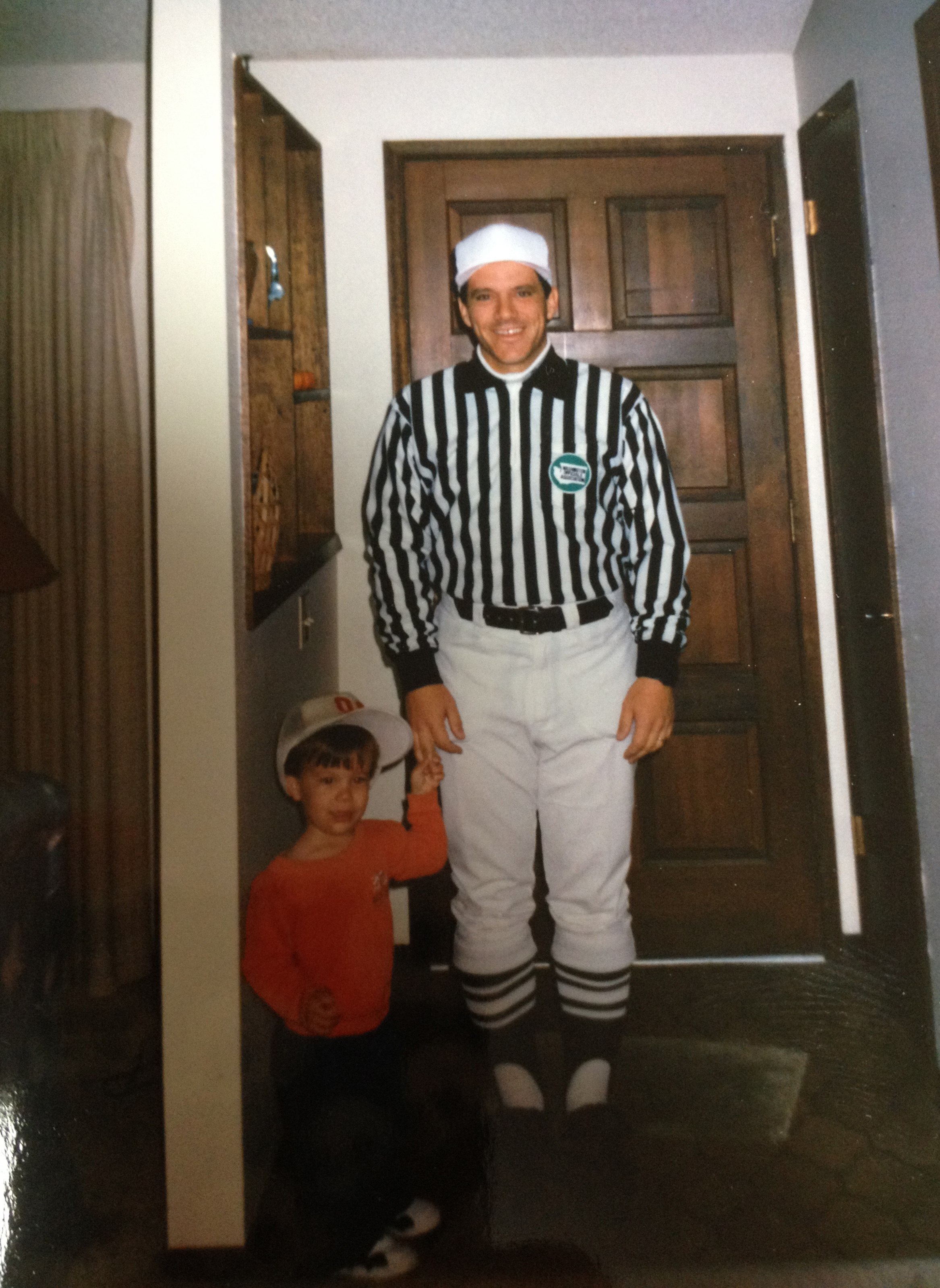 From the time I was very little I admired my dad and wanted to be a referee like him.