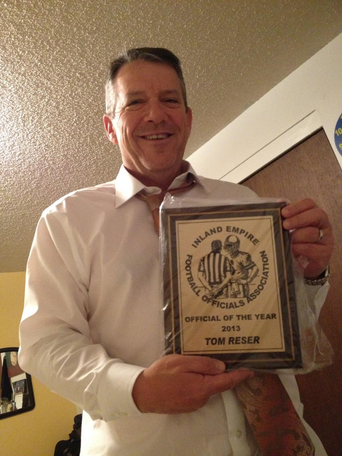 My dad with his very well deserved Official of the Year award.
