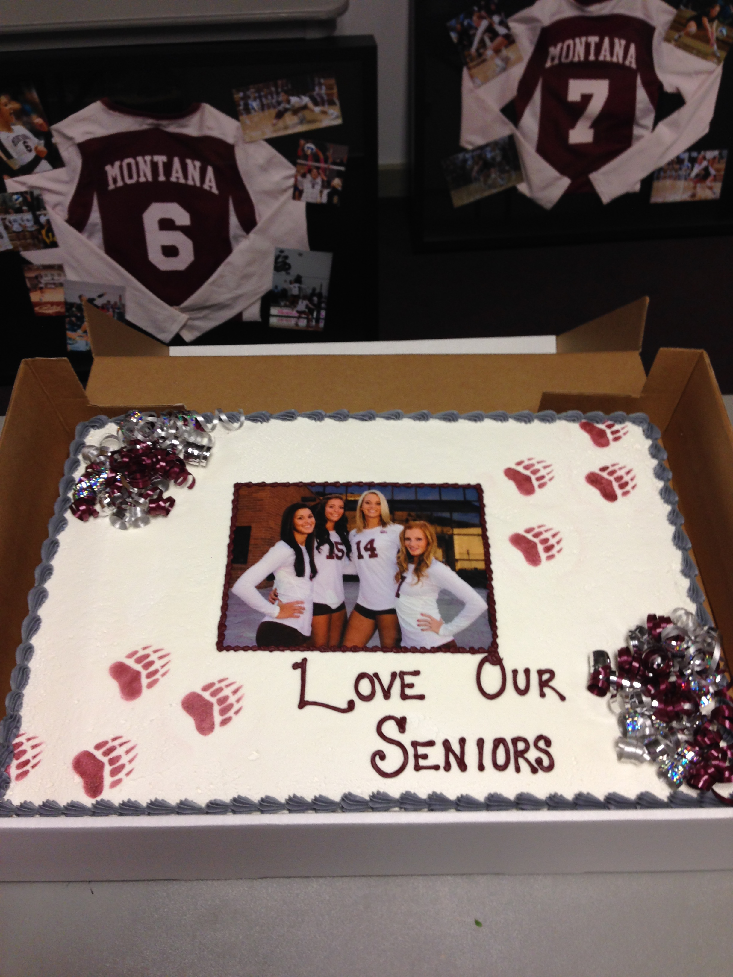 Congrats to our volleyball seniors (Brooke Bray, Kayla Reno, Kortney James, and Megan Murphey) on great careers.