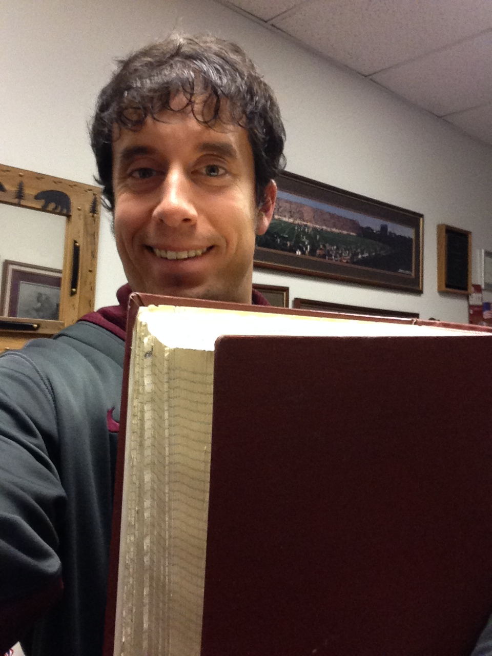 Here is me with the Red Book. It is HUGE.