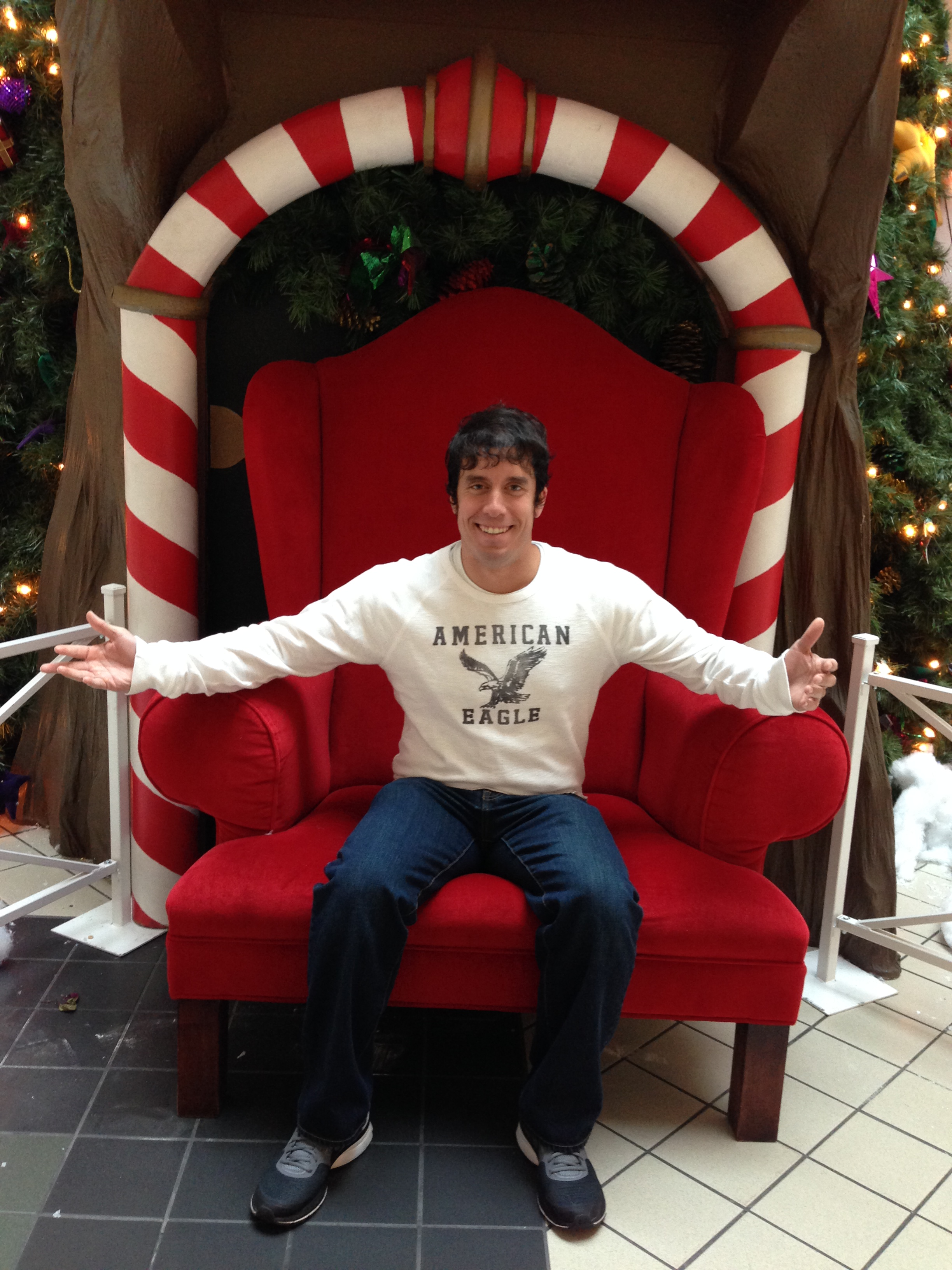 A couple days after Christmas I sat in Santa's throne in Northtown Mall.
