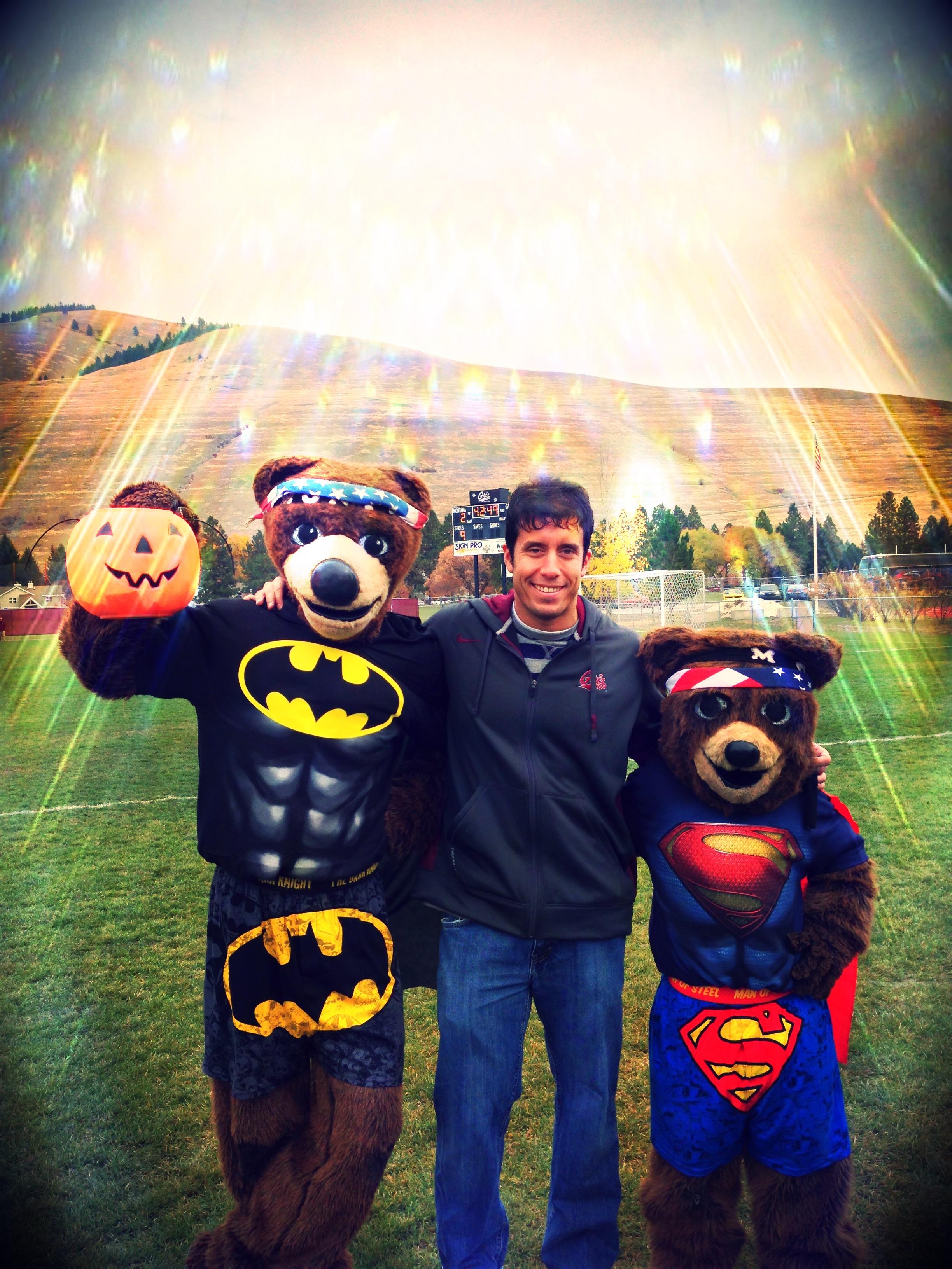 I get the opportunity to work with our mascots, Monte and Mo