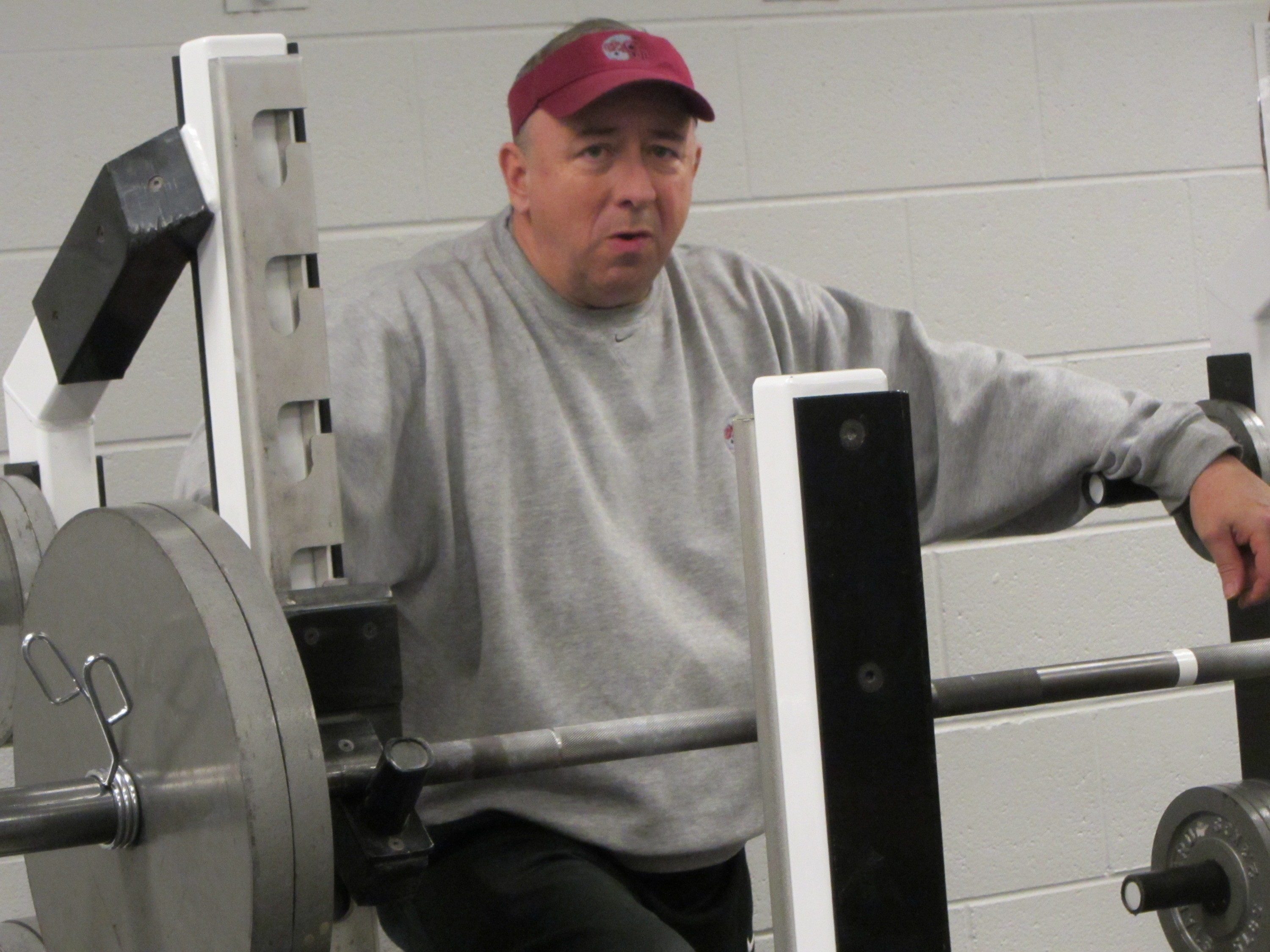 A photo I took of Rob Oviatt at the 2012 Montana Pro Day.