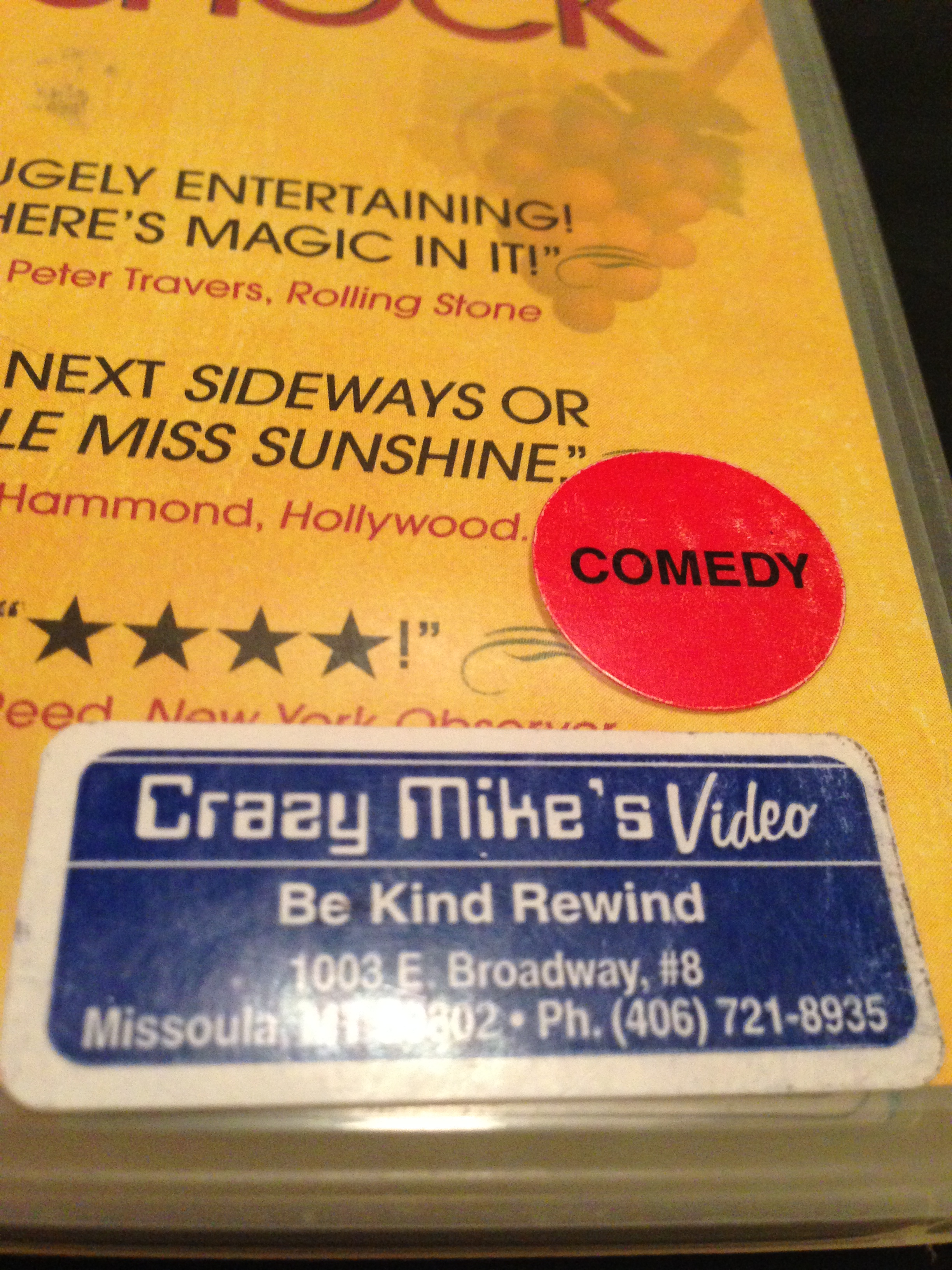 This unnecessary message graces each Crazy Mike's DVD.