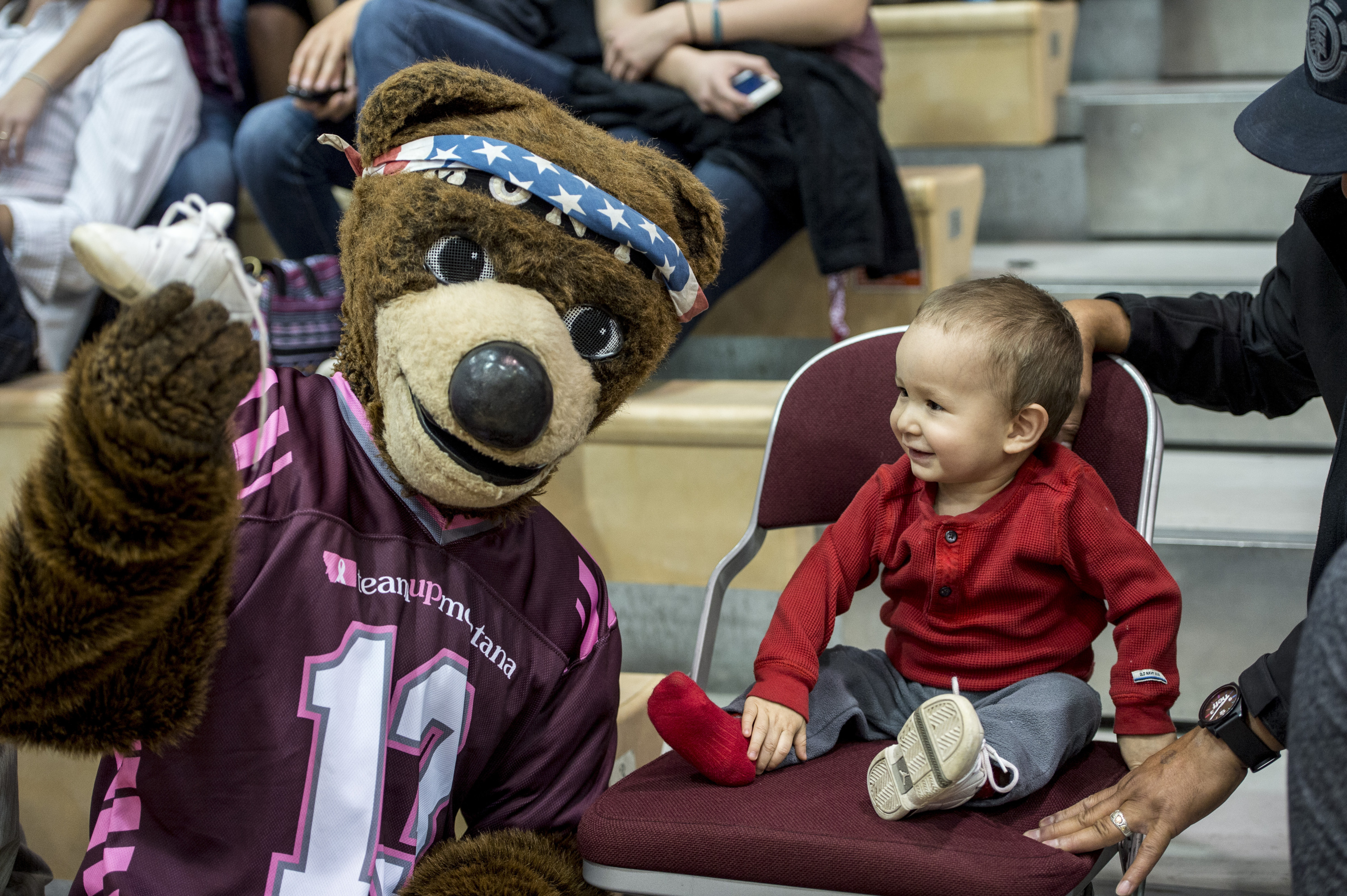 Monte makes thousands of kids smile a year (awesome photo courtesy of Todd Goodrich).