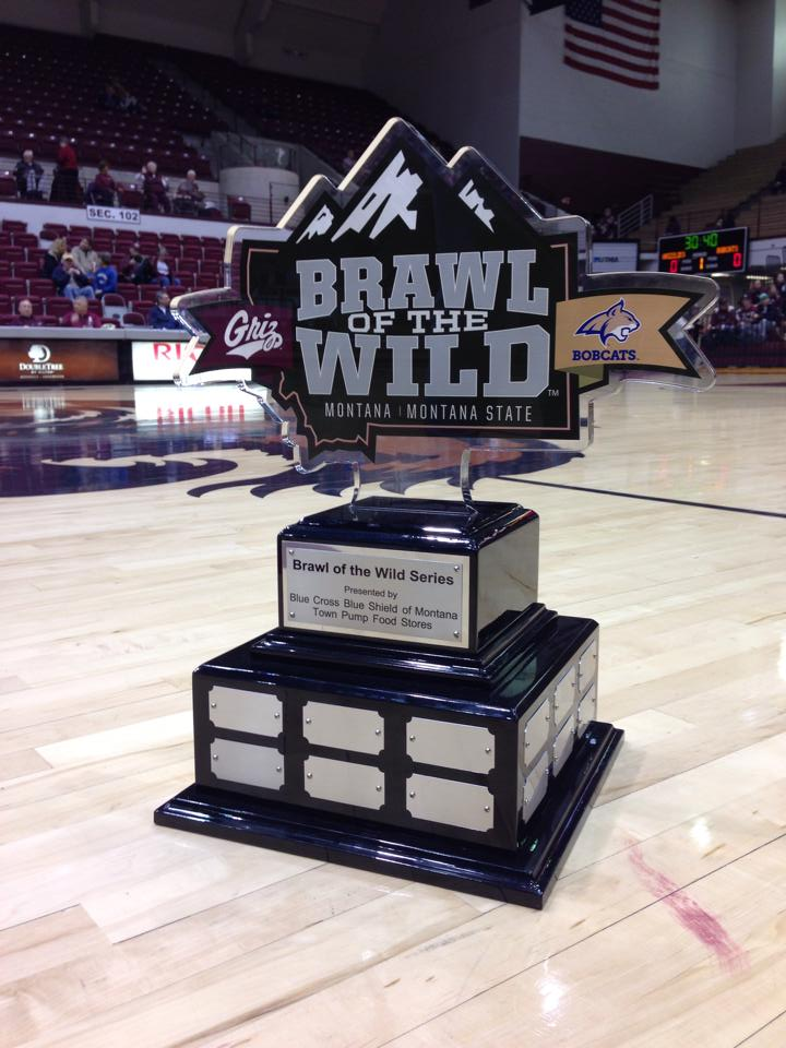 This is the nice piece of hardware we get to keep for defeating Montana State in a yearlong competition.