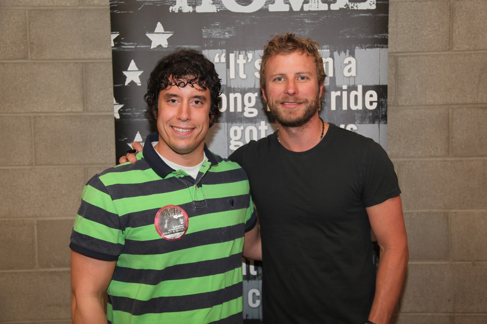 I met Dierks Bentley in April of 2012.