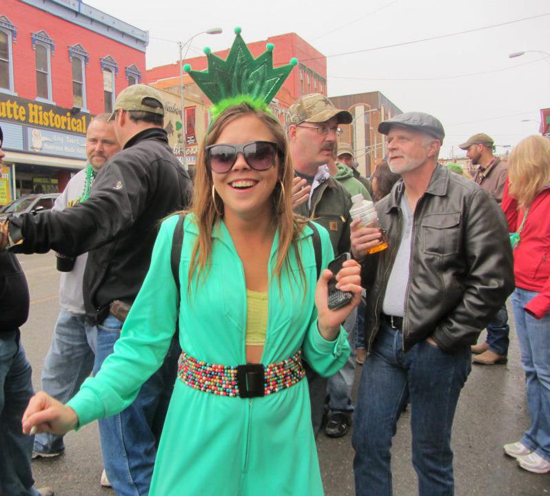Megan in her Statue of Liberty Irish style costume.