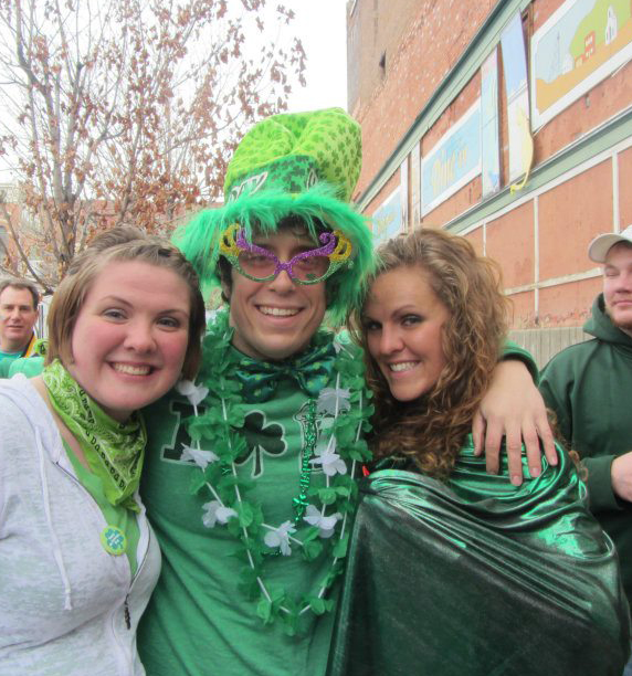 I sported this outfit on St. Patrick's Day in 2012