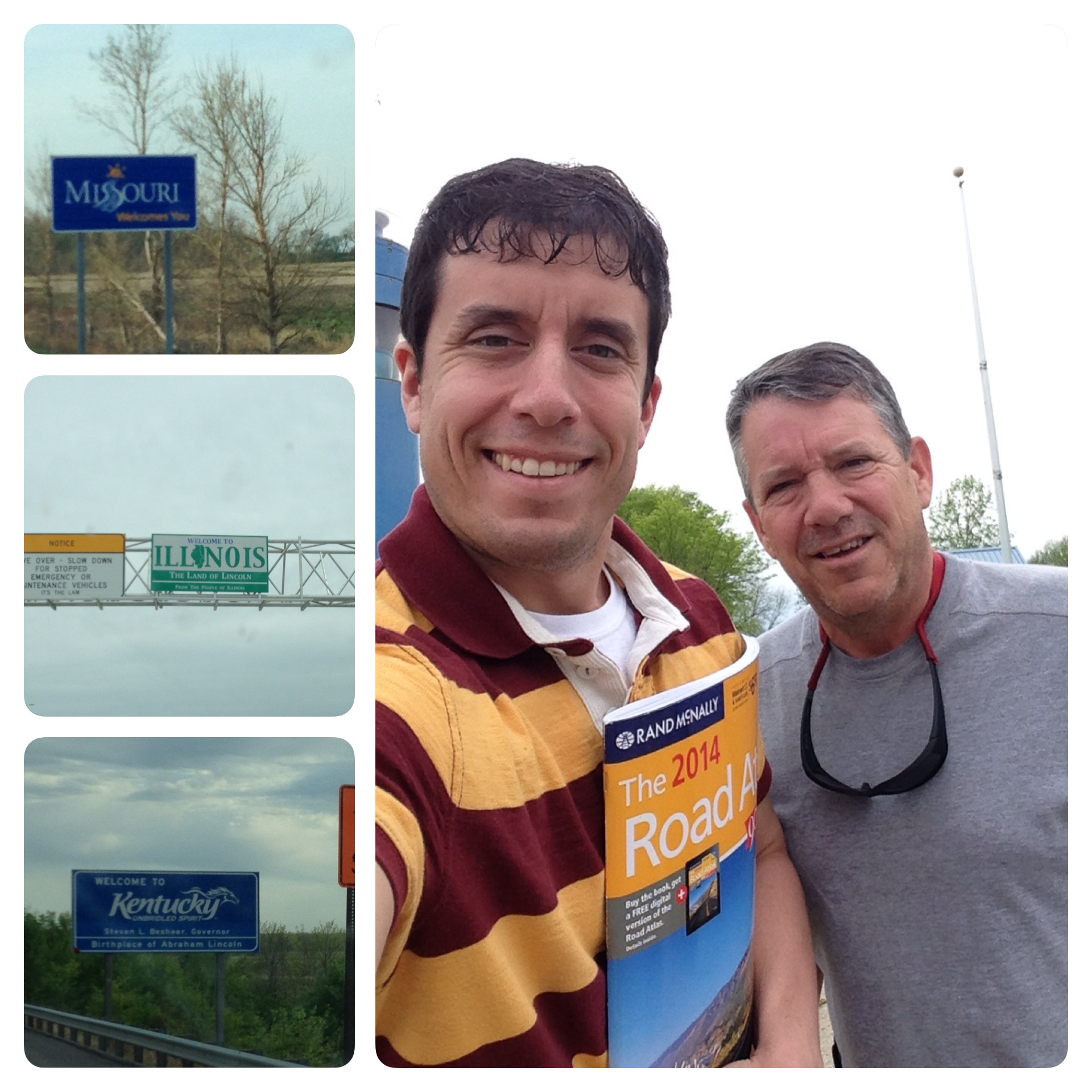 My dad and I had a GREAT day on the road going through four states.