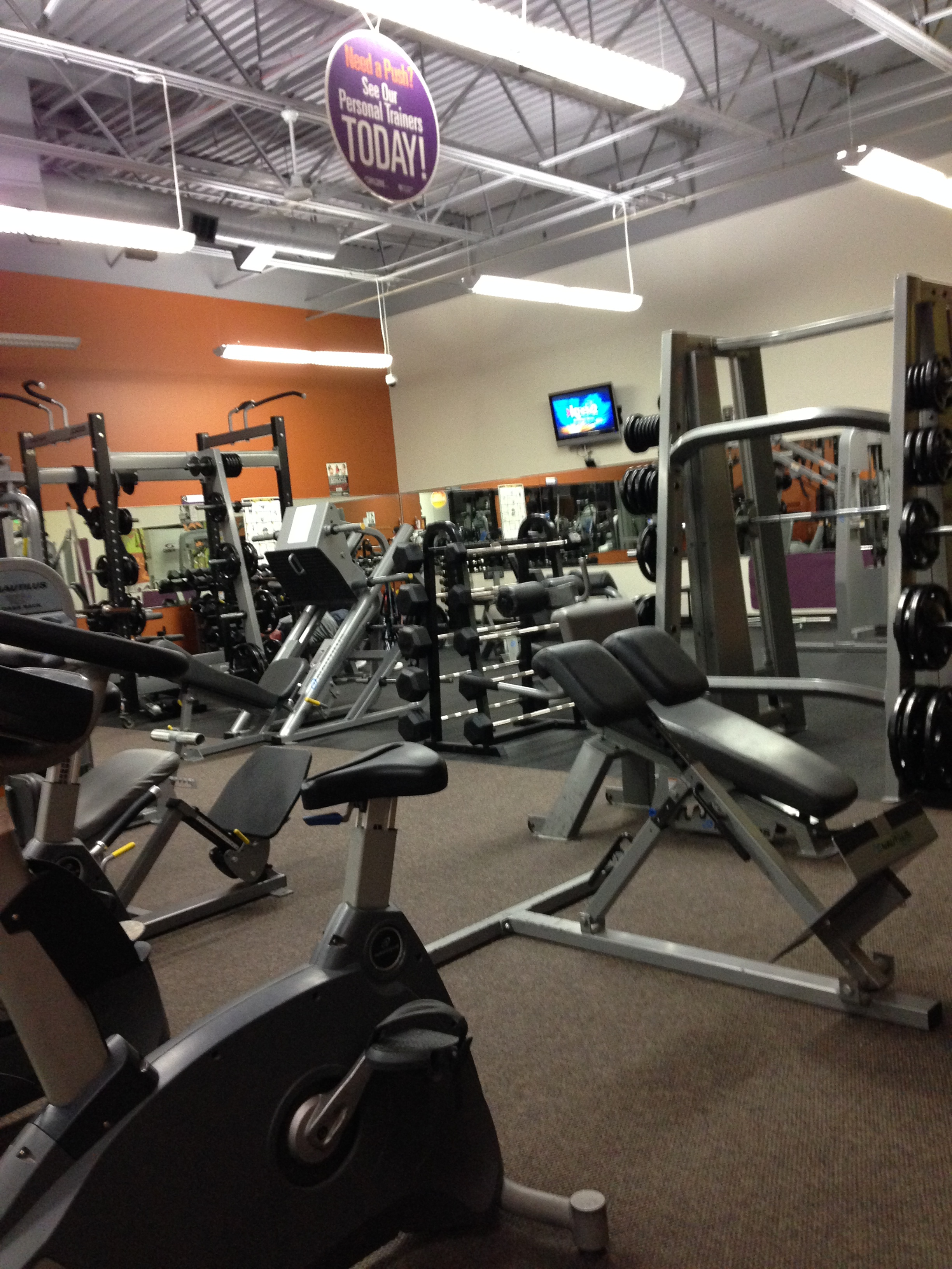 I worked out early this morning at Anytime Fitness in north Spokane.