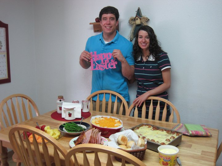 My sister and I during Easter 2010.