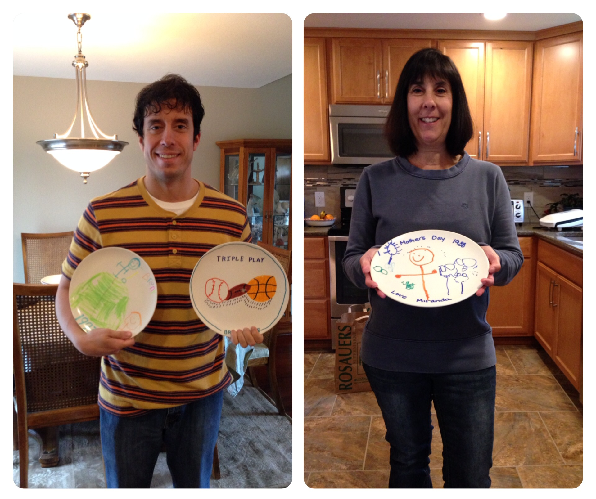 Me and my mom with some of these special plates.