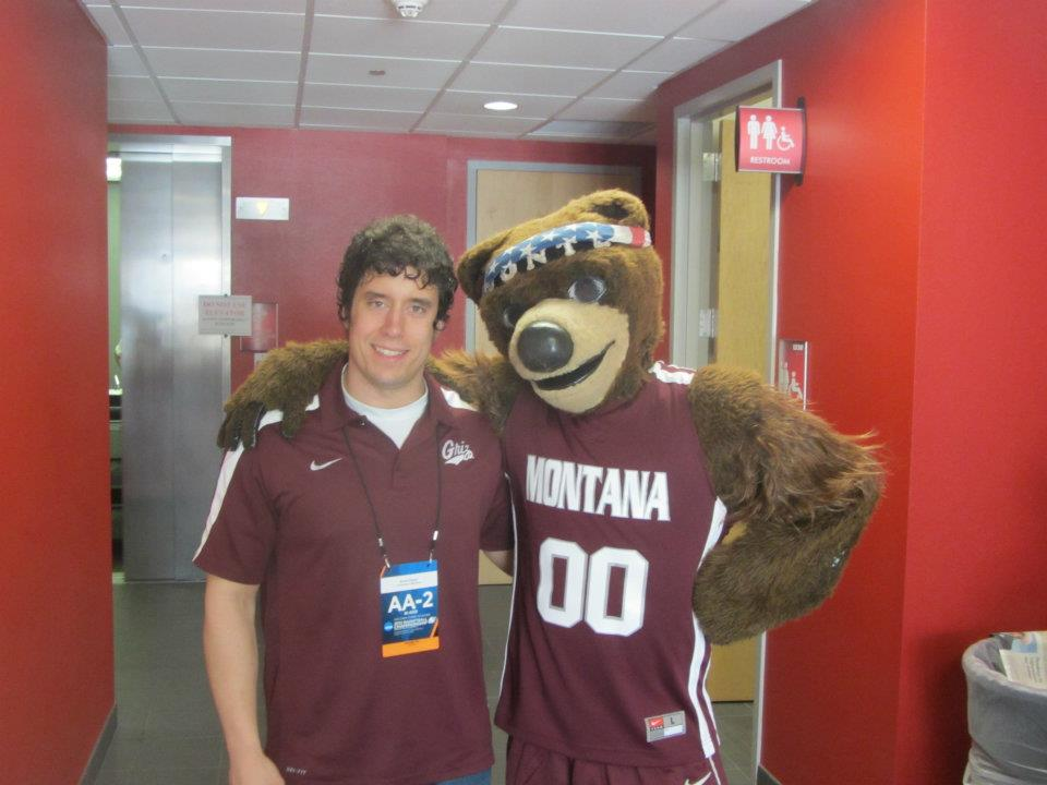 Monte and I before we went out on the court for the 2012 NCAA Tournament.