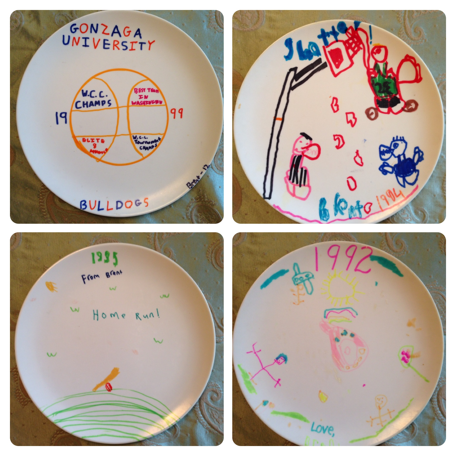Some of the plates yours truly created (at no time have I ever claimed to have even a speck of artistic ability).