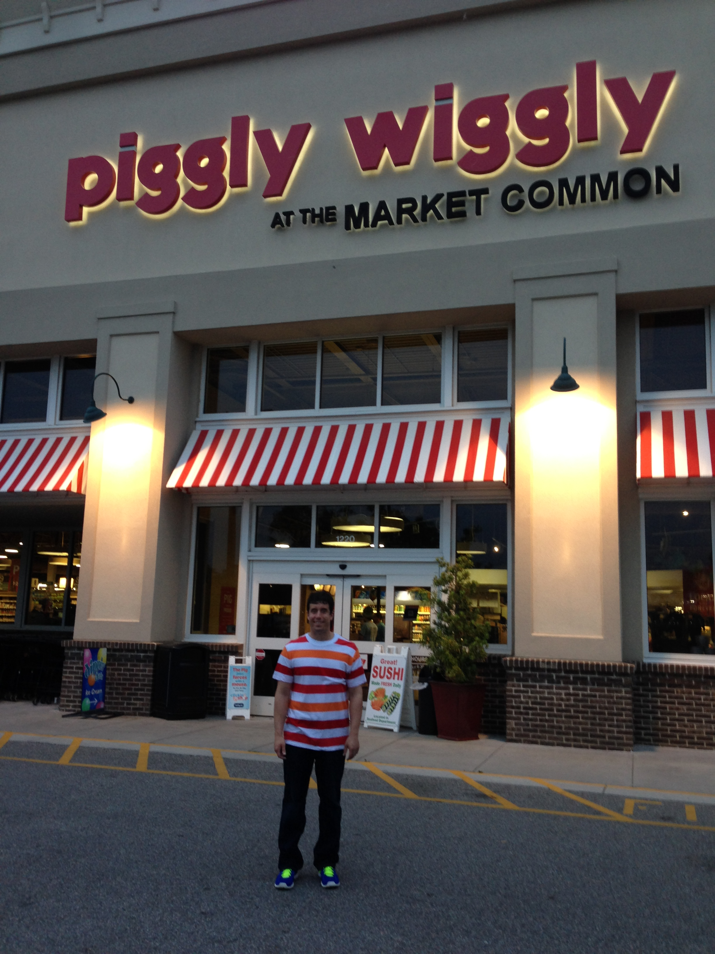 A prominent grocery store chain in the south is Piggly Wiggly. They have a really cool store in Market Common.