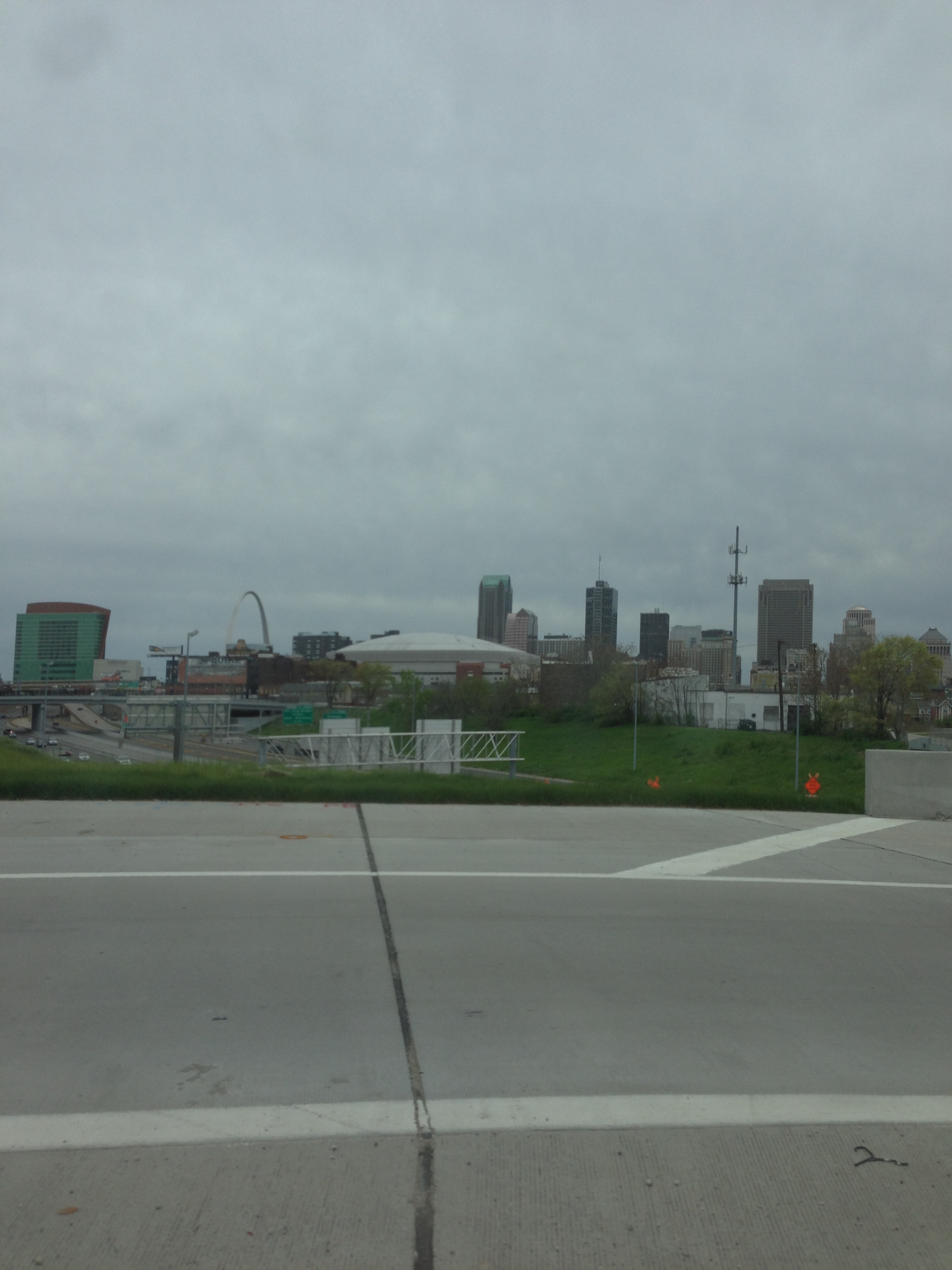 I took this photo of St. Louis from our U-Haul.