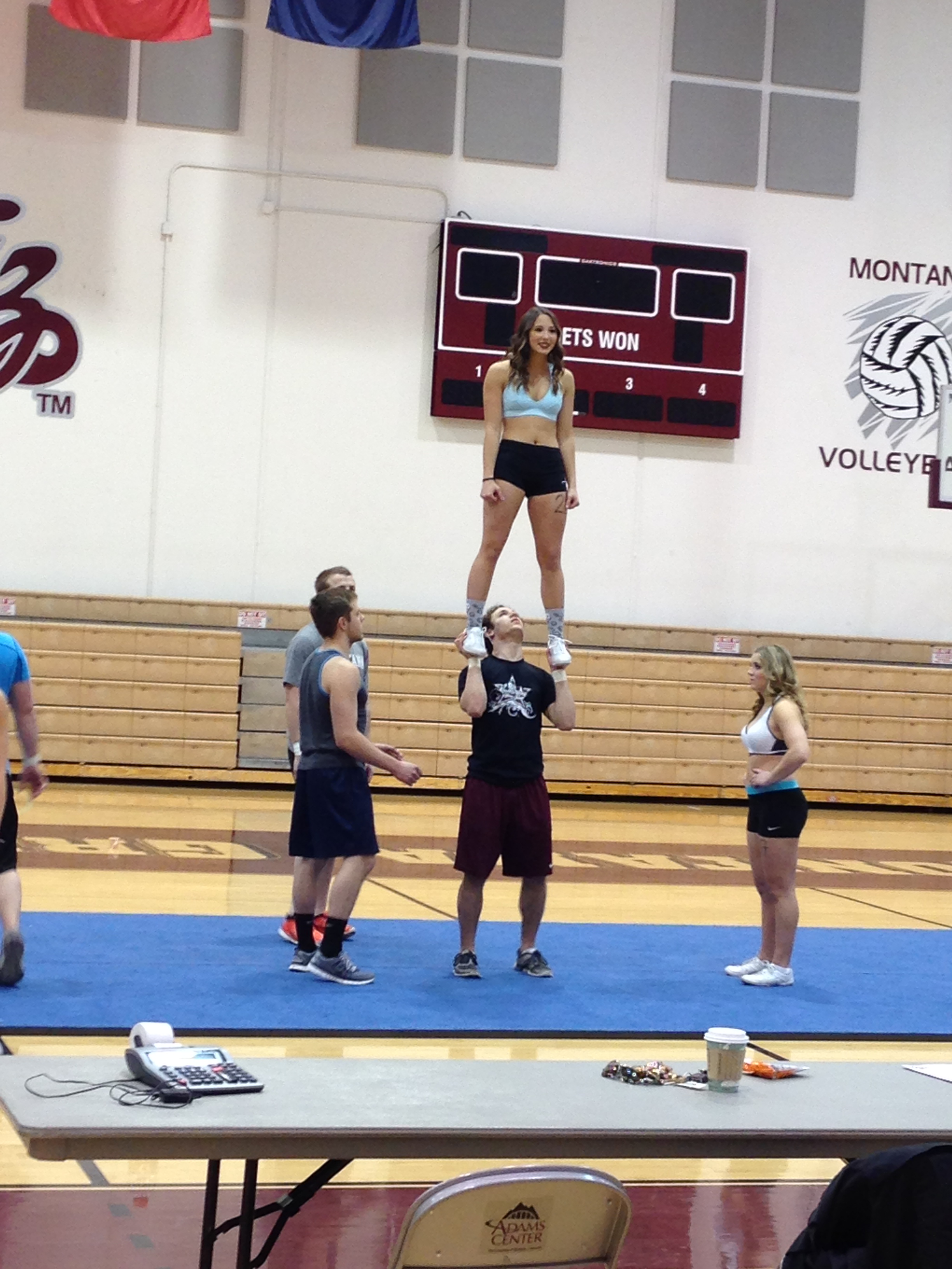 I made it a priority to catch some of the UM Cheer Squad tryouts today.