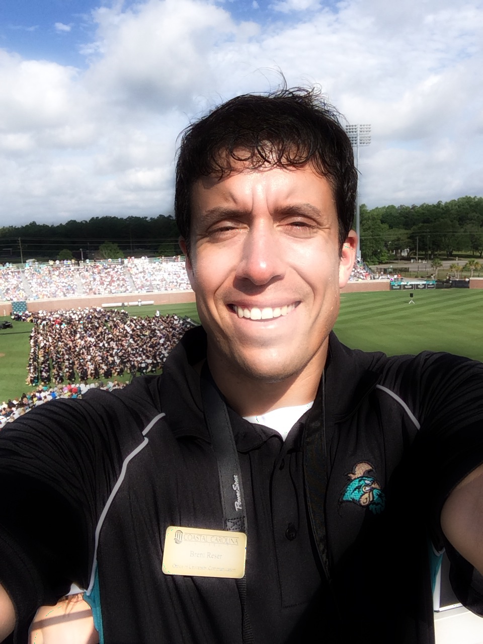 I had a nice time covering the Coastal Carolina graduation from inside Brooks Stadium.