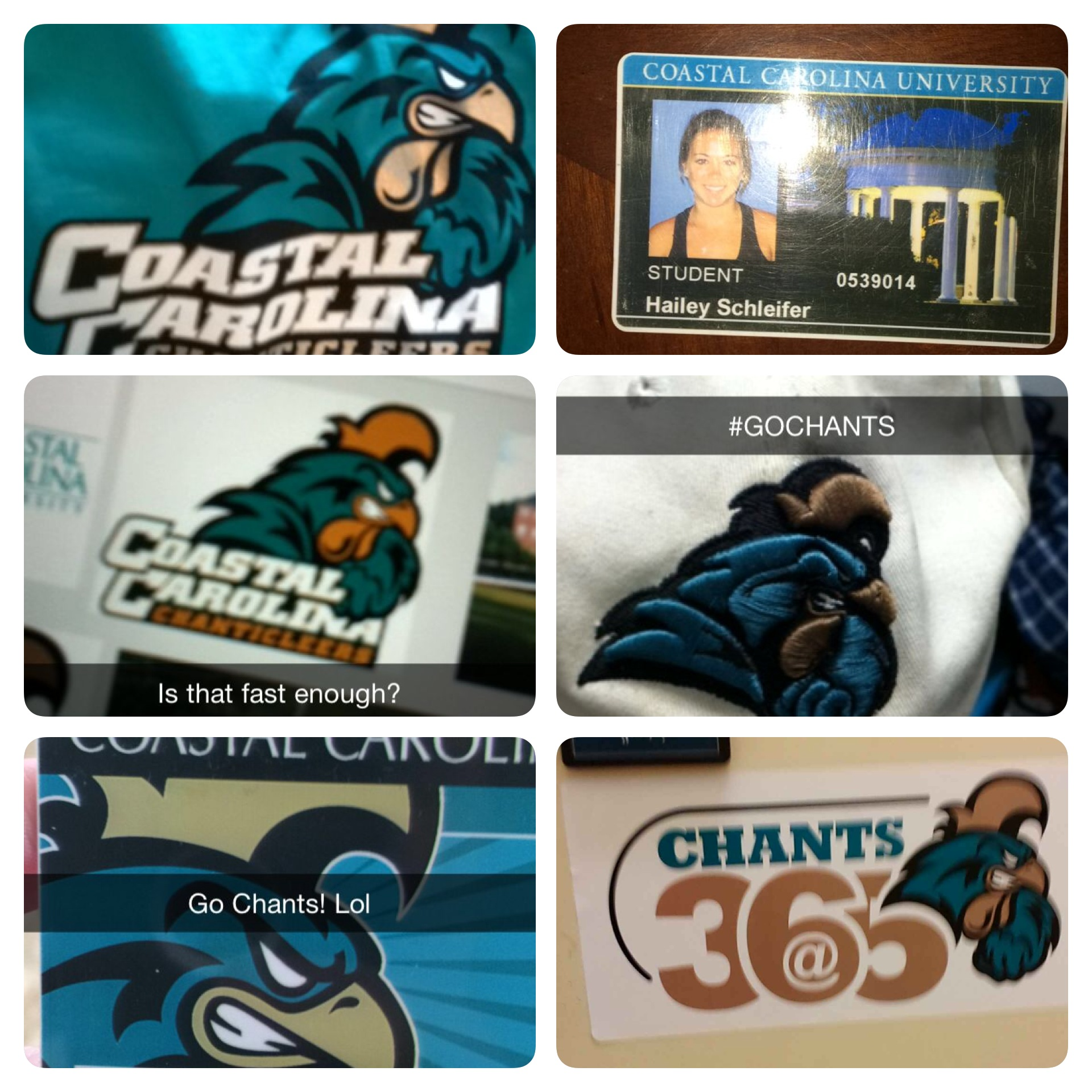 Just a few of the great snaps we got when we asked our friends to send us a CCU logo.