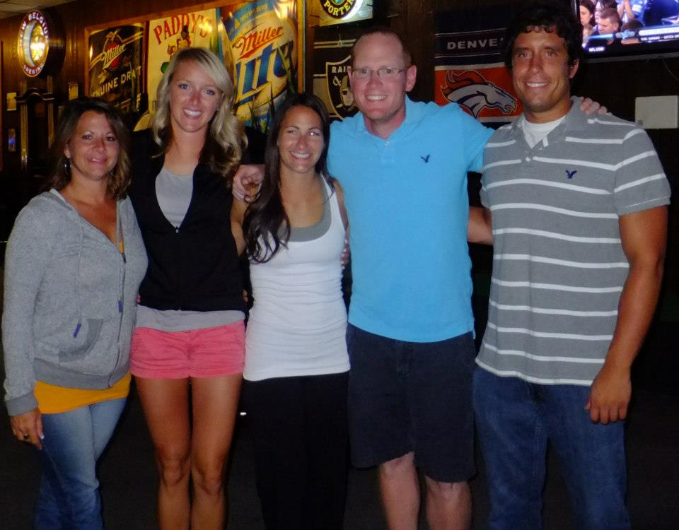 All people in this photo used to have an association with Grizzly Athletics. We were all in Coeur d'Alene, Idaho, for a UCA camp. Christie is on the far left and Kenny and I on the right.