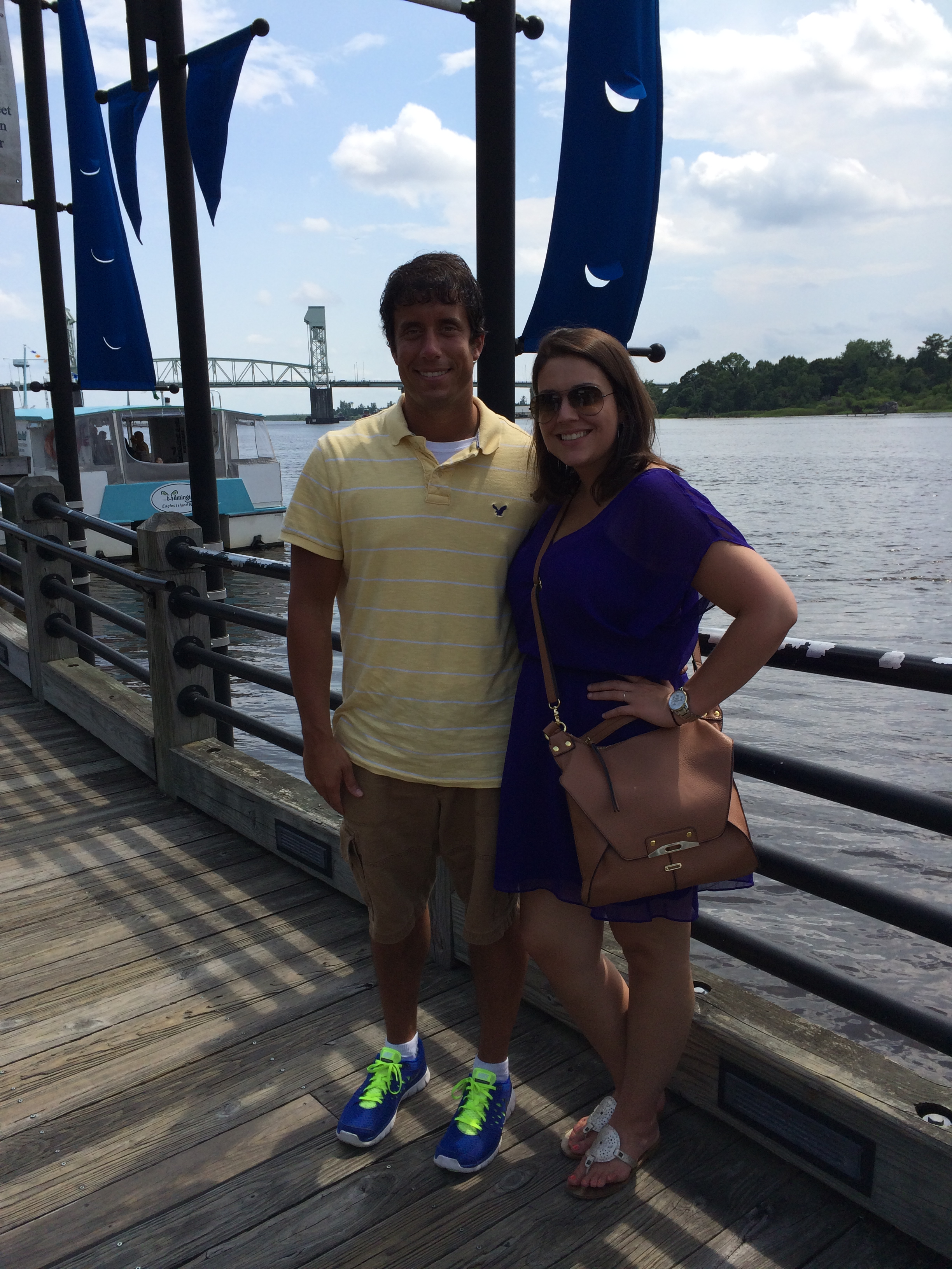 Sidney and I in the beautiful city of Wilmington on Saturday.